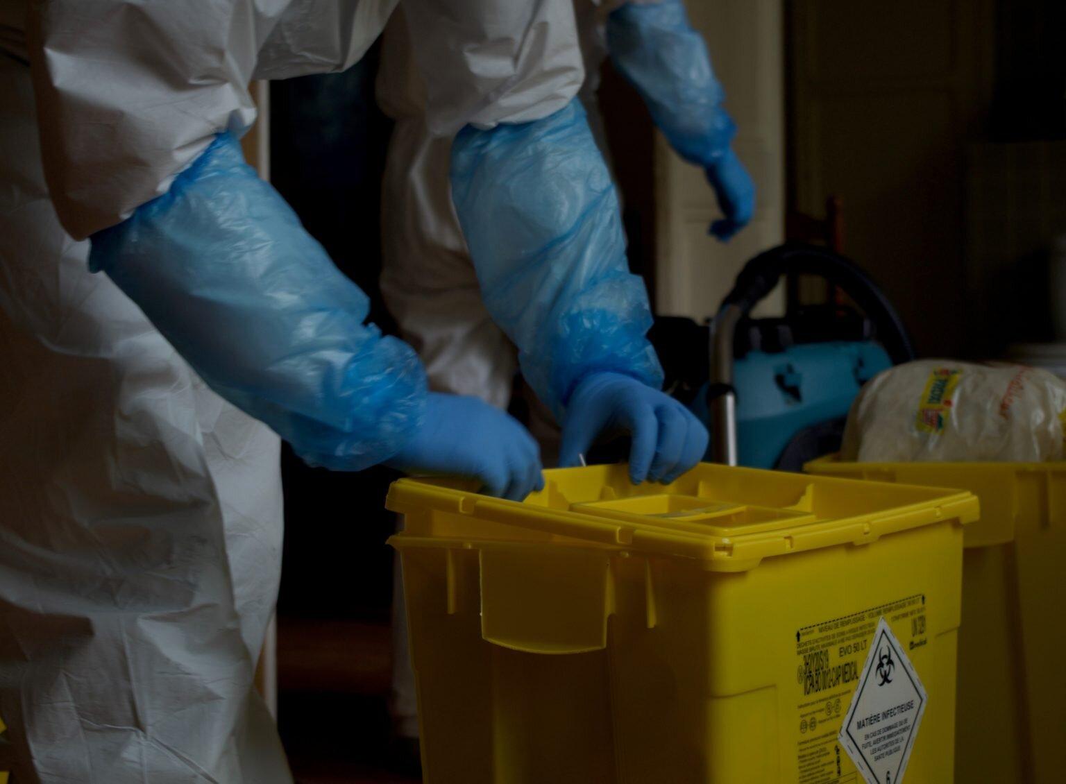 thanatopraxie desinfection